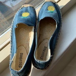 Soludos espadrilles pineapple blue - Size 6